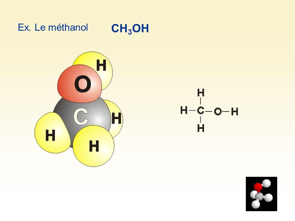 Ex. Le méthanol CH3OH