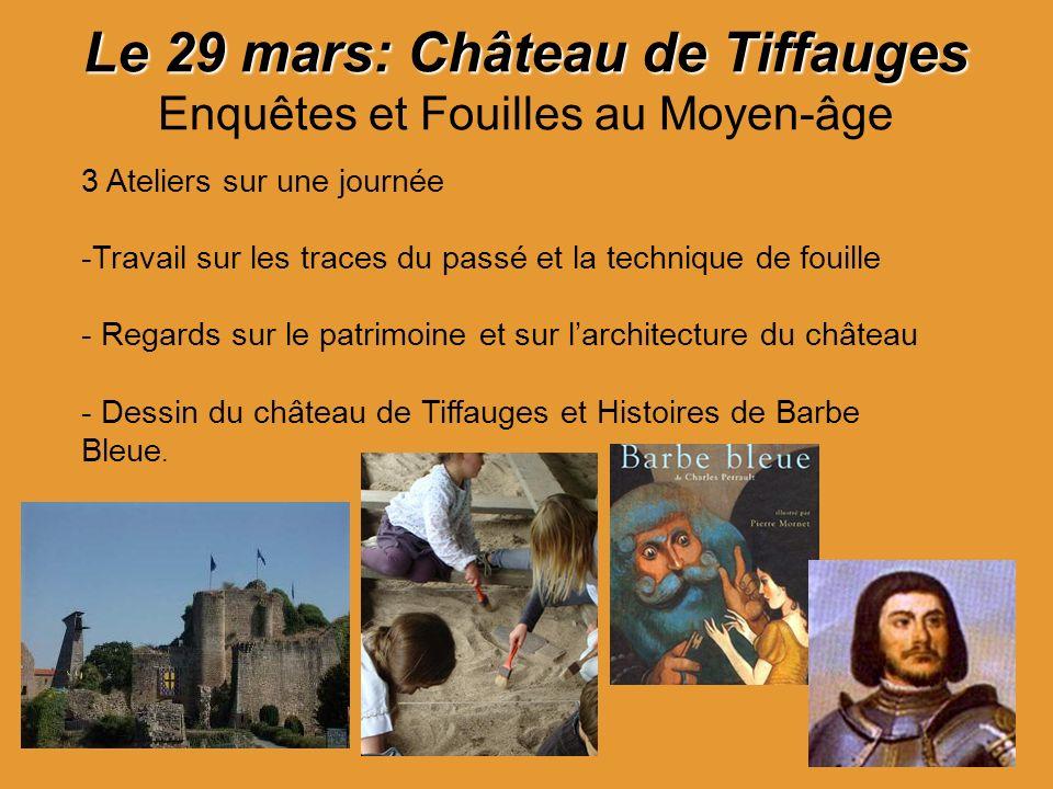 Le 29 mars: Château de Tiffauges Enquêtes et Fouilles au Moyen-âge