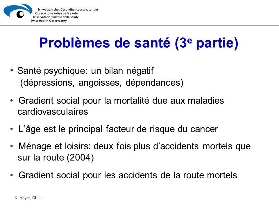 Problèmes de santé (3e partie)
