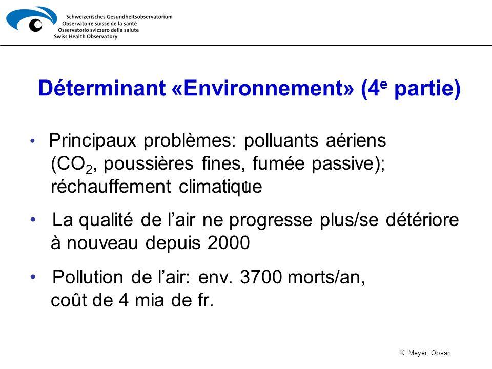 Déterminant «Environnement» (4e partie)