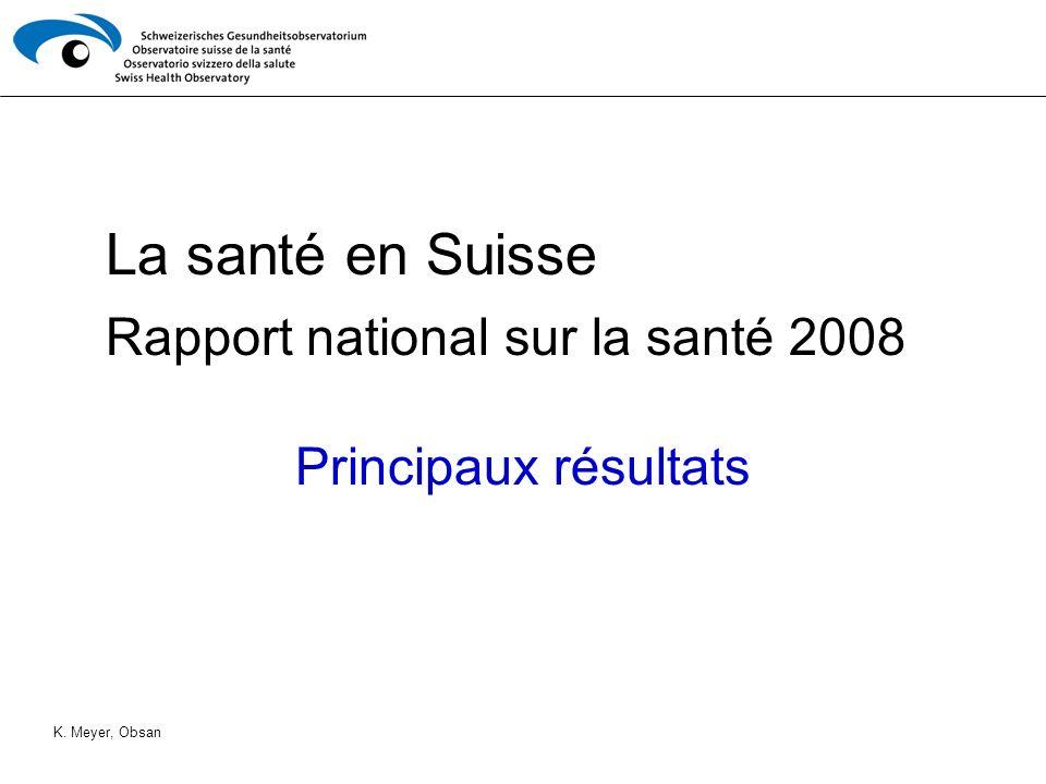 Rapport national sur la santé 2008 Principaux résultats