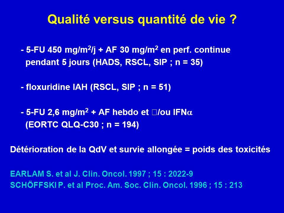 Qualité versus quantité de vie