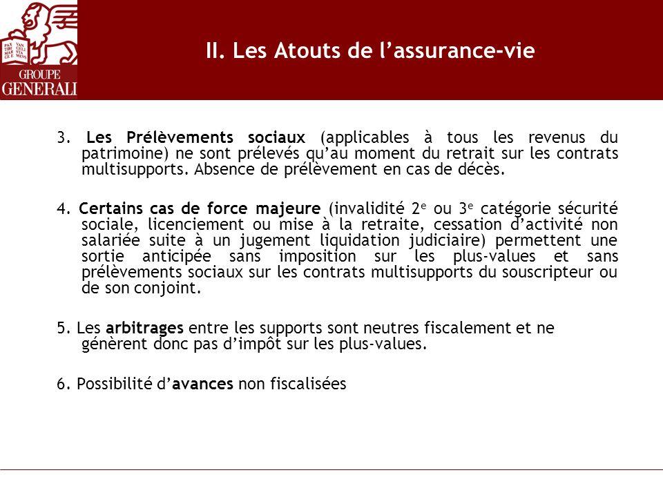 II. Les Atouts de l'assurance-vie