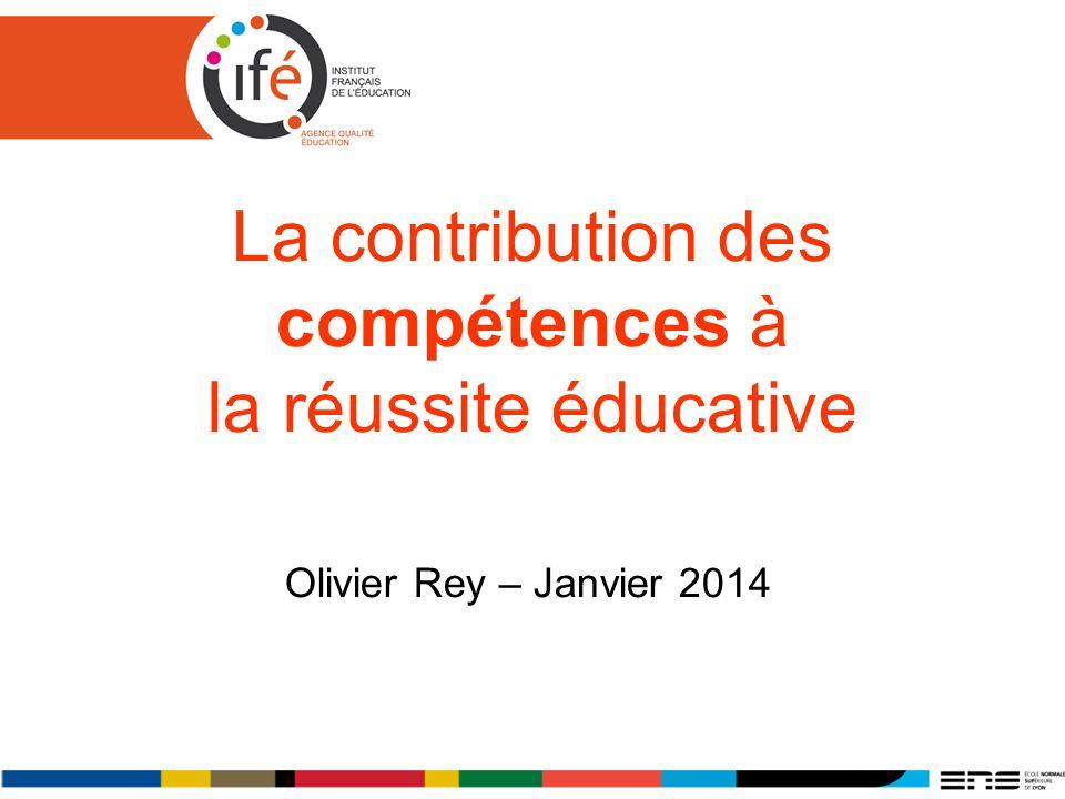 La contribution des compétences à la réussite éducative