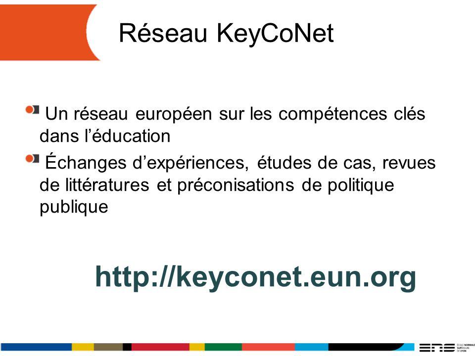 Réseau KeyCoNet http://keyconet.eun.org