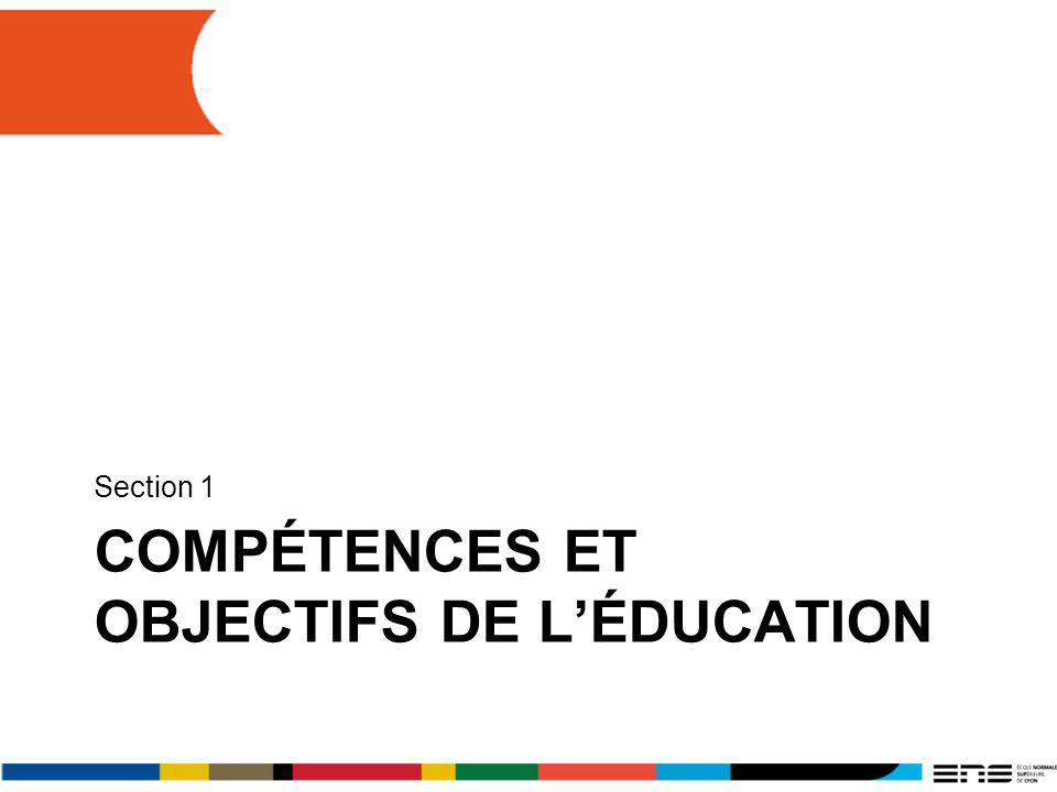 Compétences et objectifs de L'Éducation