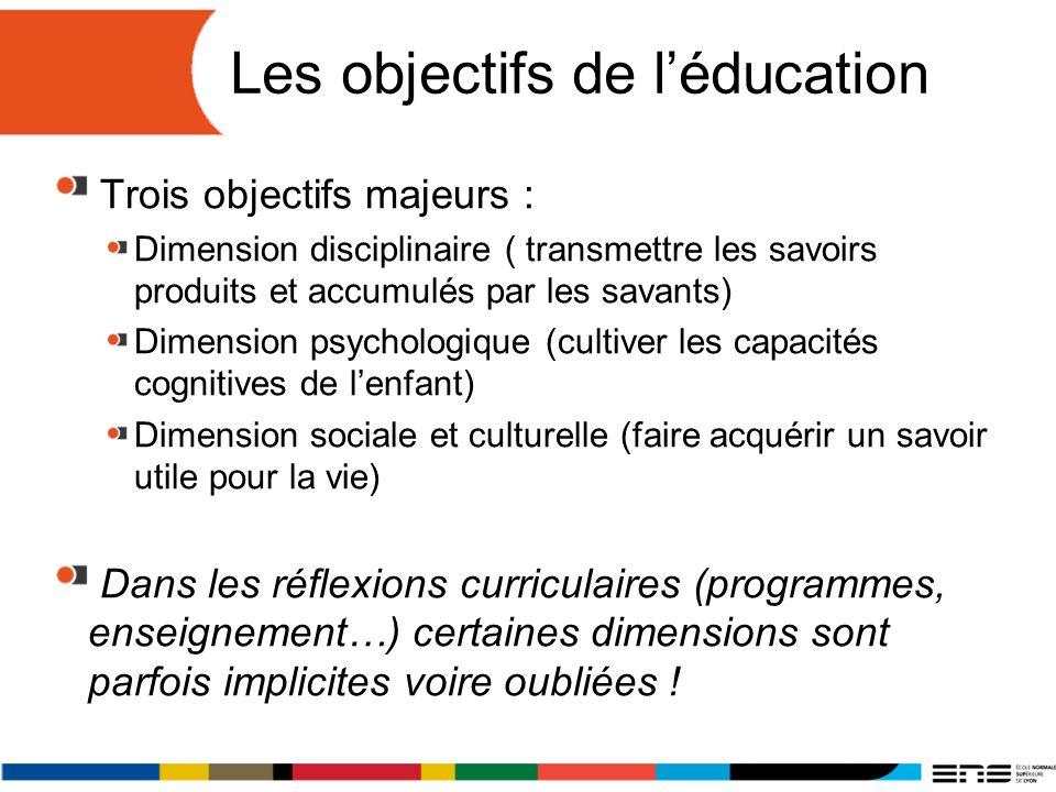 Les objectifs de l'éducation
