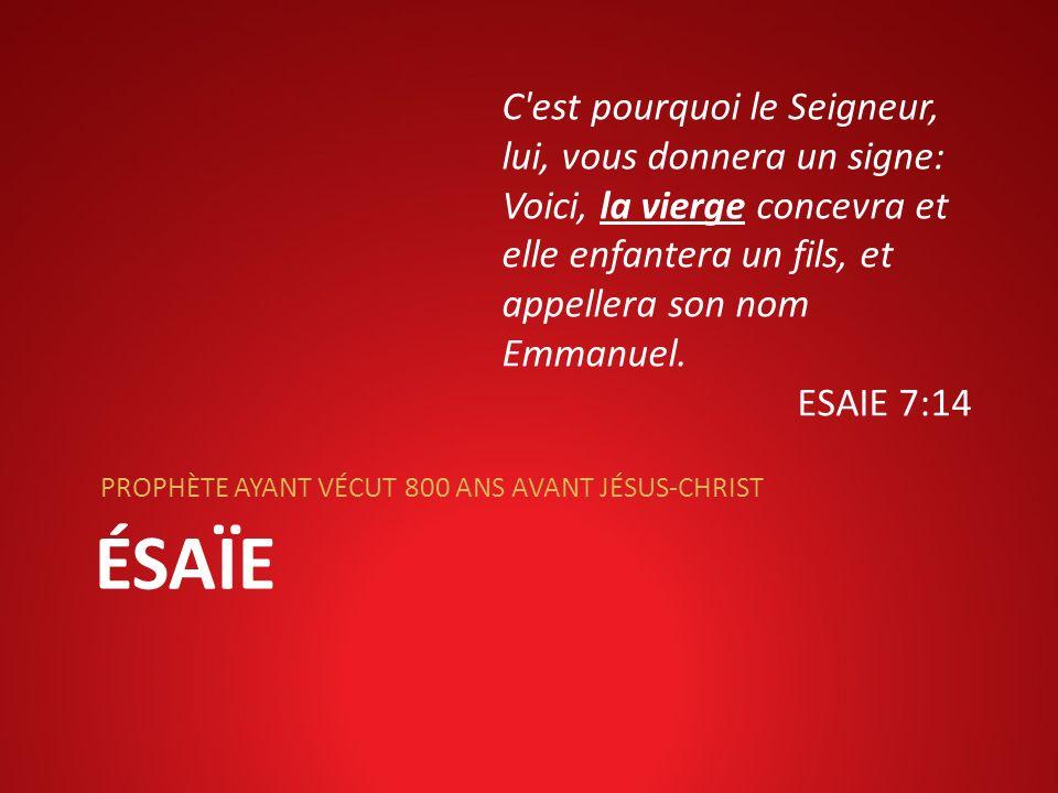 C est pourquoi le Seigneur, lui, vous donnera un signe: Voici, la vierge concevra et elle enfantera un fils, et appellera son nom Emmanuel.