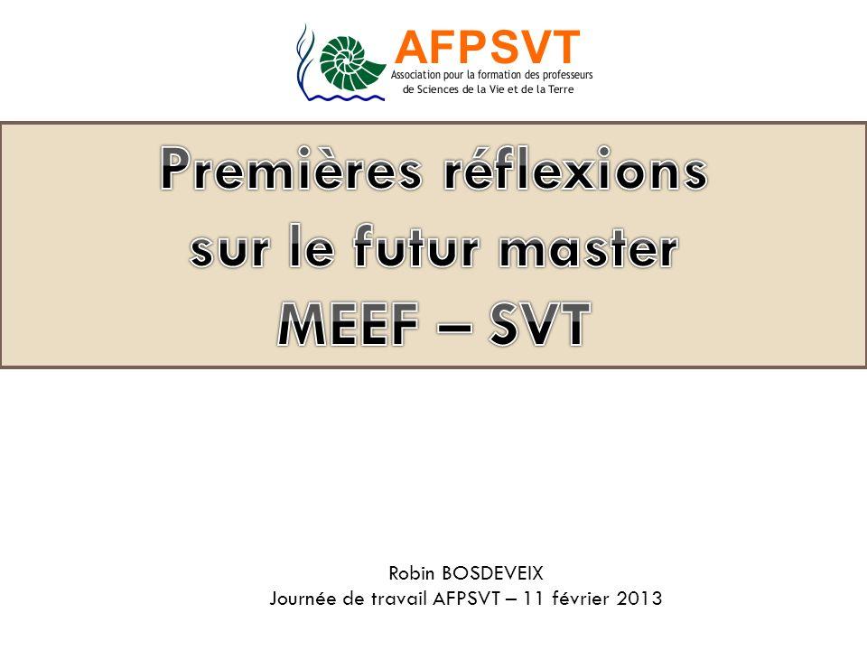 sur le futur master MEEF – SVT