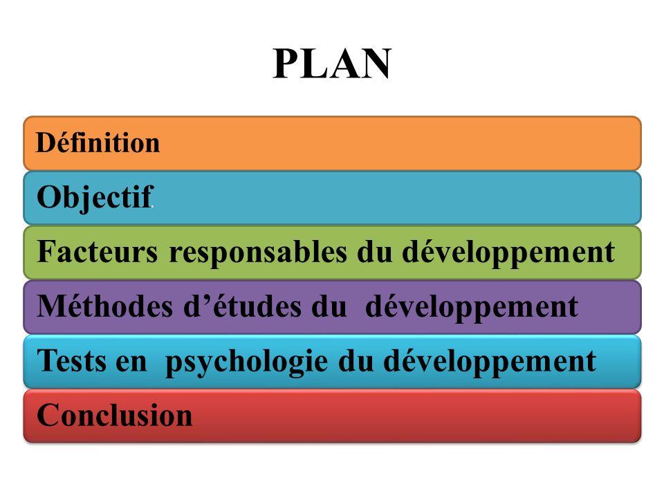PLAN Objectifs Facteurs responsables du développement