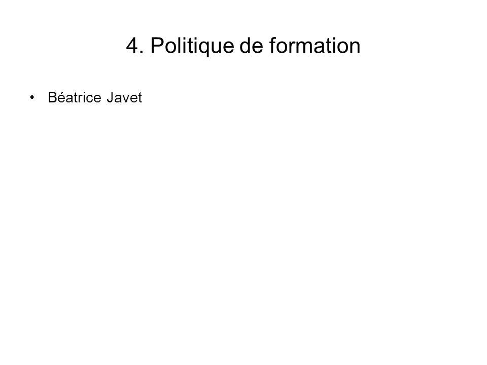 4. Politique de formation