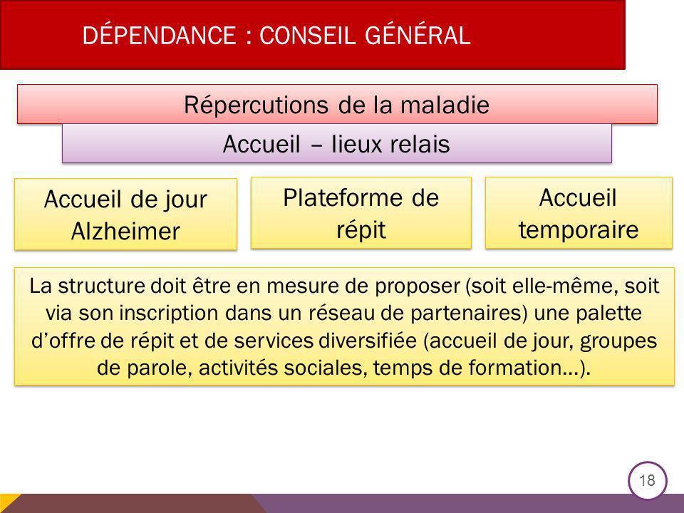 Dépendance : Conseil général