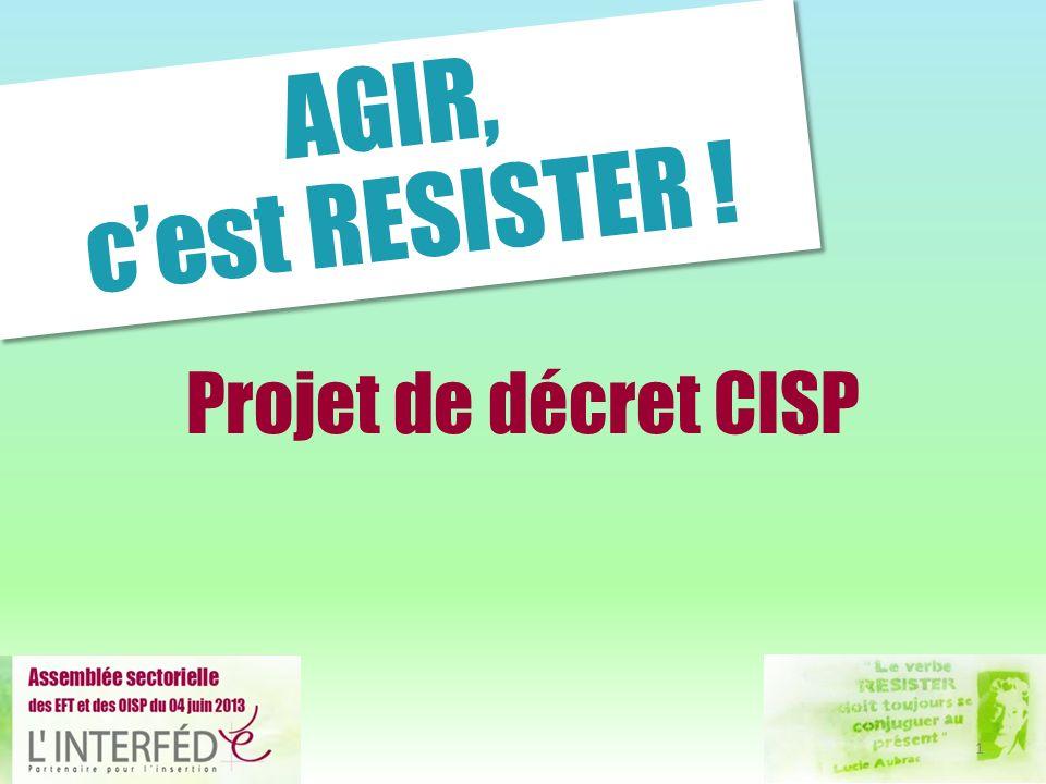 AGIR, c'est RESISTER ! Projet de décret CISP