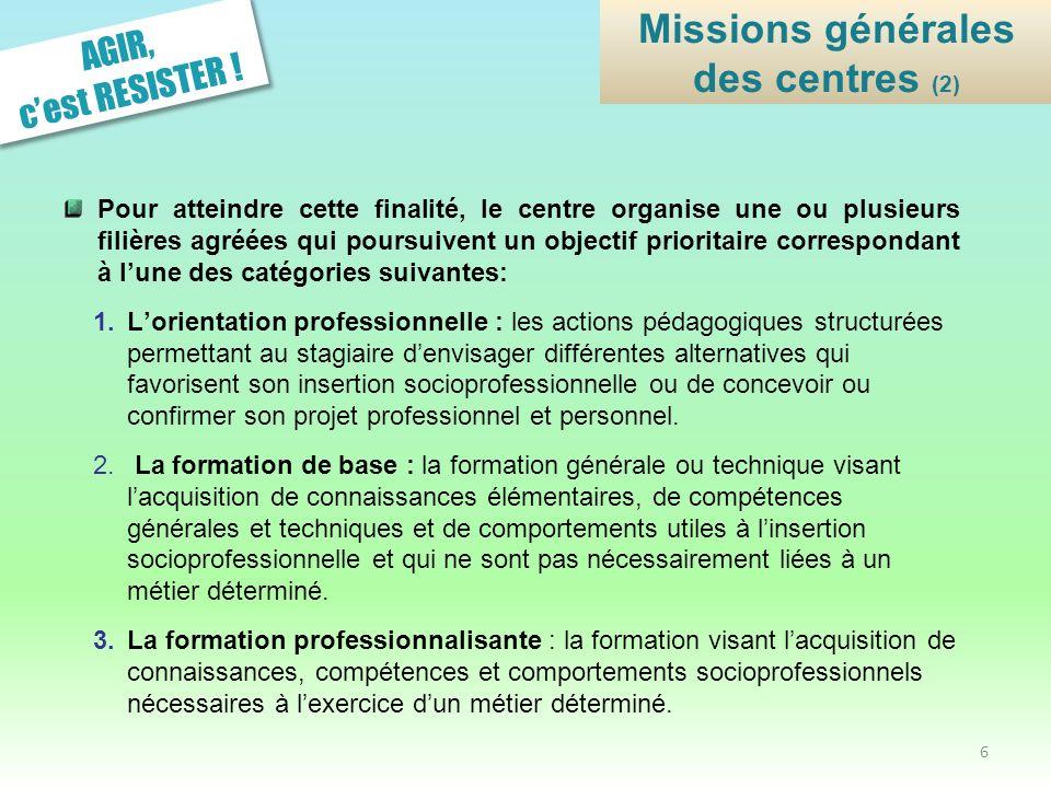 Missions générales des centres (2)