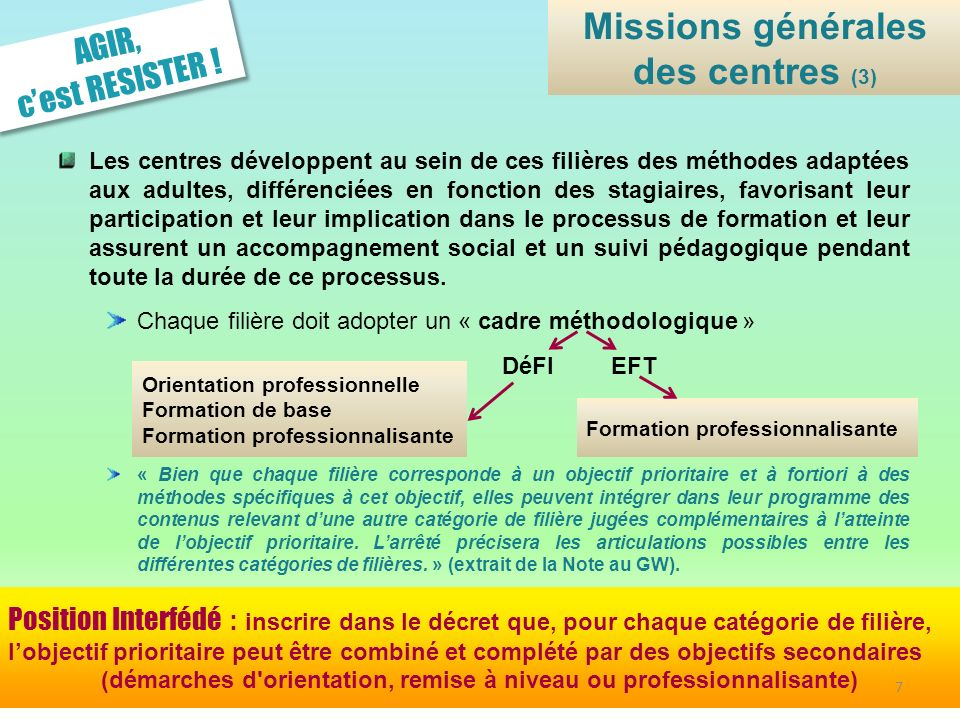 Missions générales des centres (3)