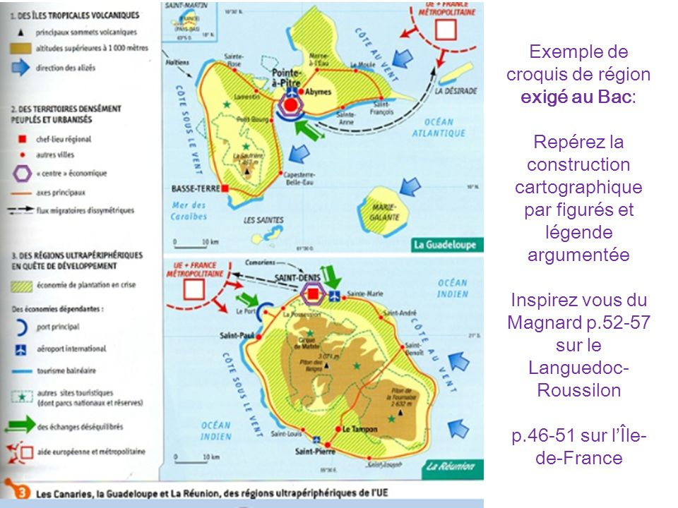 Exemple de croquis de région exigé au Bac: Repérez la construction cartographique par figurés et légende argumentée Inspirez vous du Magnard p.52-57 sur le Languedoc-Roussilon p.46-51 sur l'Île-de-France