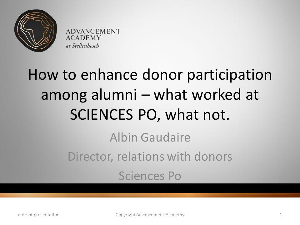 Albin Gaudaire Director, relations with donors Sciences Po