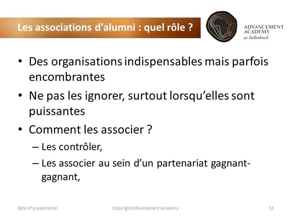 Les associations d'alumni : quel rôle
