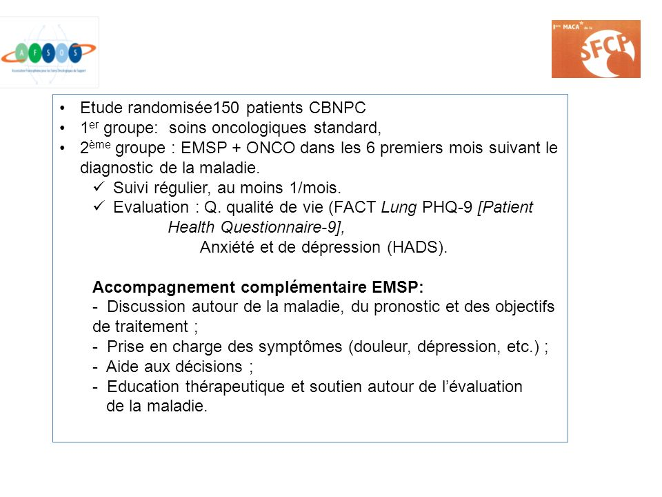 Etude randomisée150 patients CBNPC