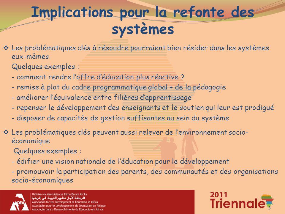 Implications pour la refonte des systèmes