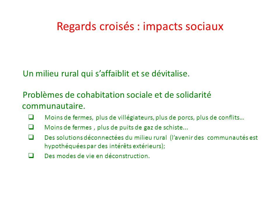 Regards croisés : impacts sociaux