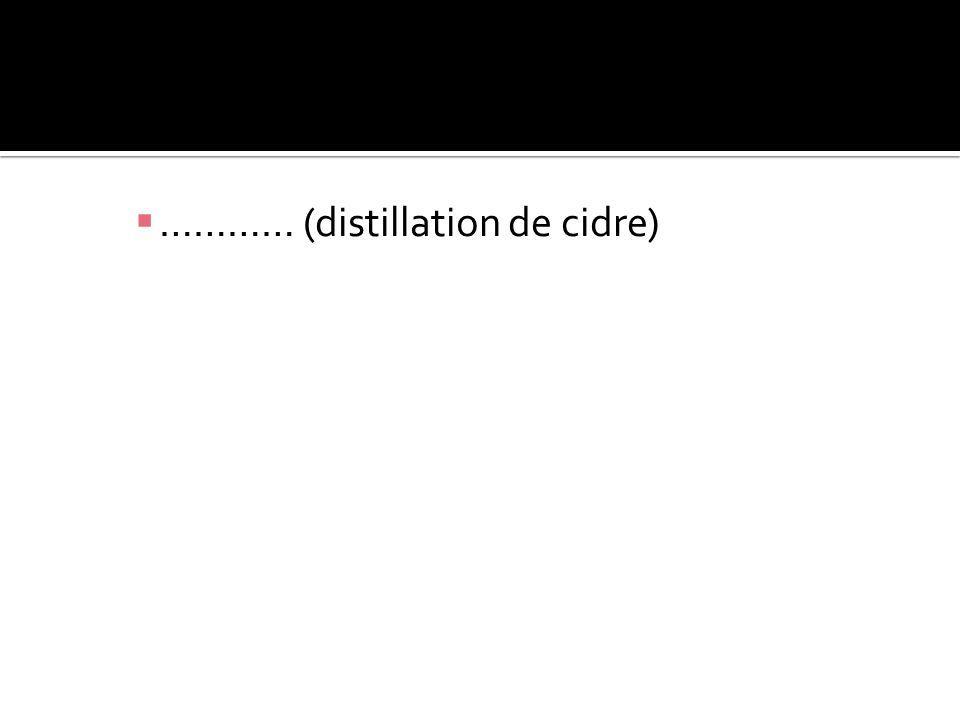 ………… (distillation de cidre)