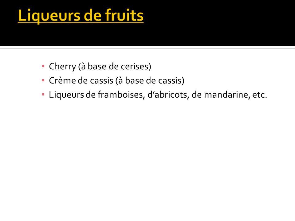 Liqueurs de fruits Cherry (à base de cerises)