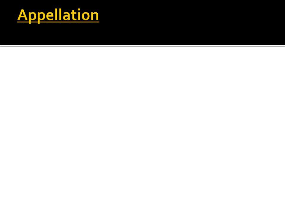 Appellation