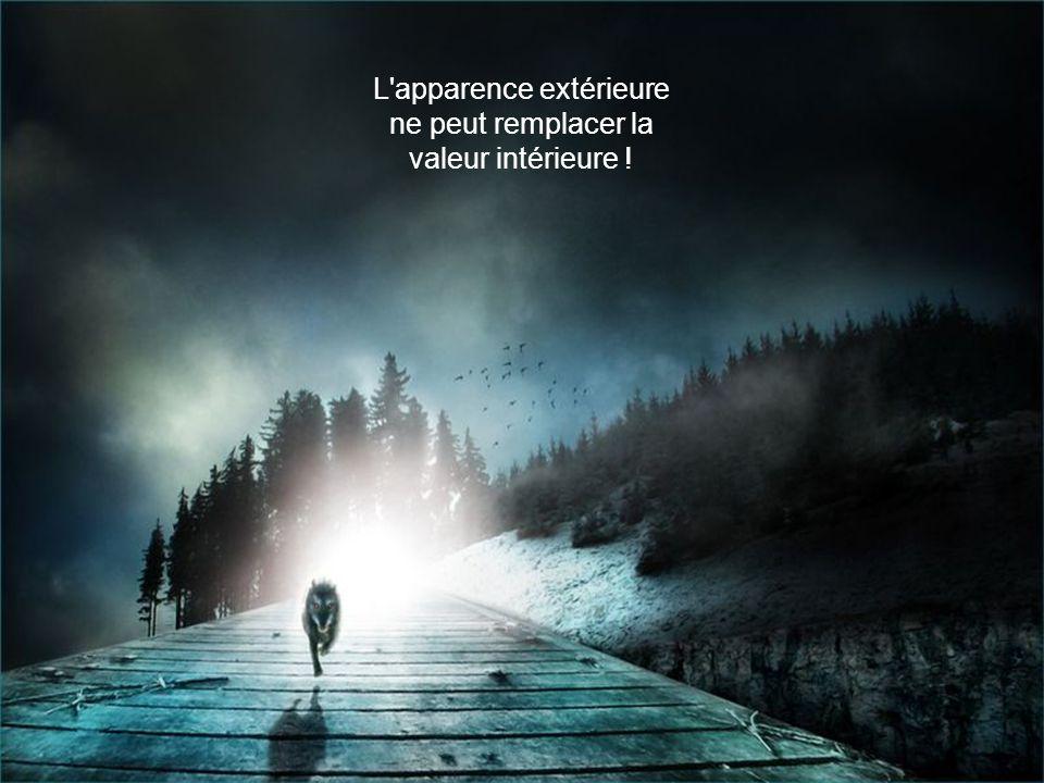 L apparence extérieure ne peut remplacer la valeur intérieure !