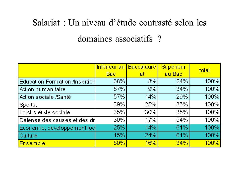Salariat : Un niveau d'étude contrasté selon les domaines associatifs