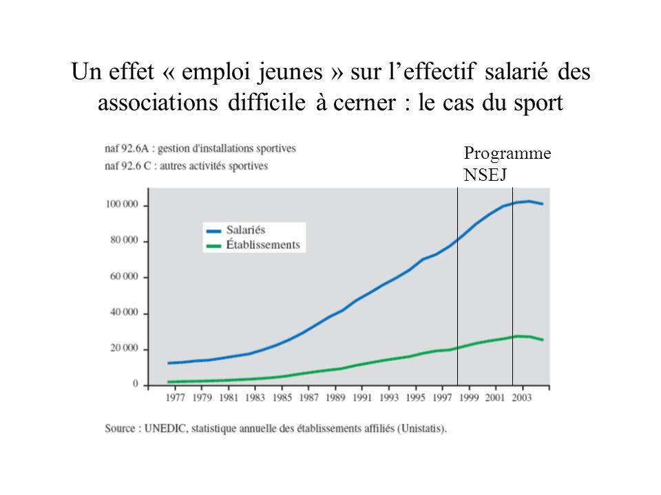 Un effet « emploi jeunes » sur l'effectif salarié des associations difficile à cerner : le cas du sport