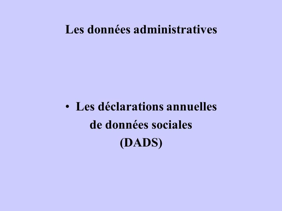 Les données administratives