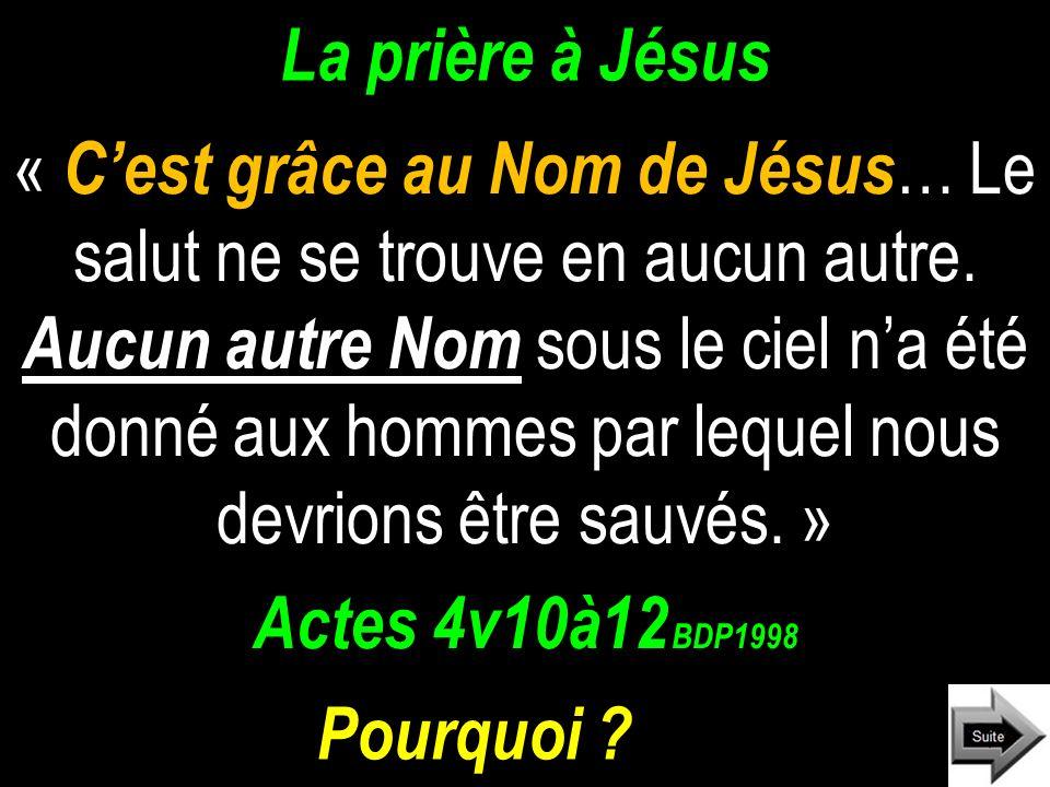 La prière à Jésus