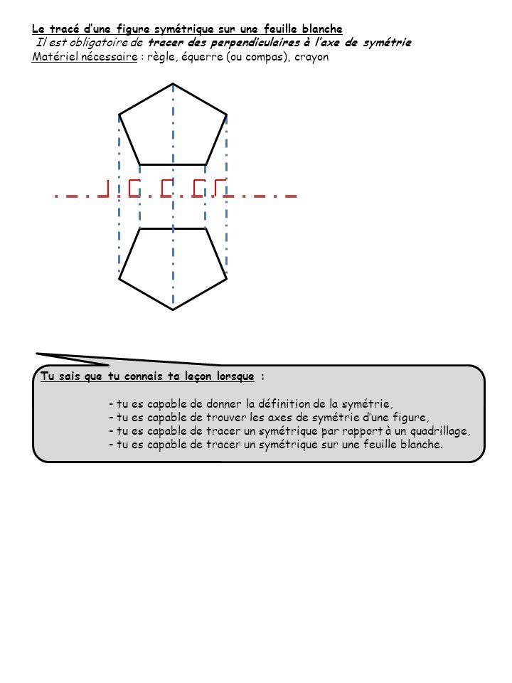 Le tracé d'une figure symétrique sur une feuille blanche