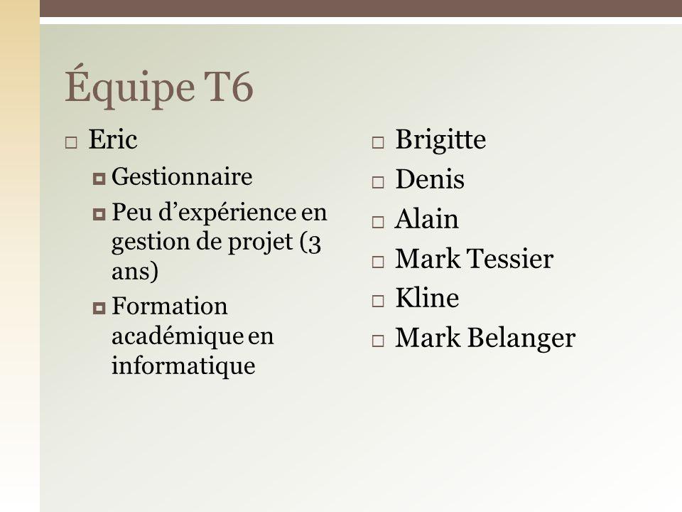 Équipe T6 Eric Brigitte Denis Alain Mark Tessier Kline Mark Belanger