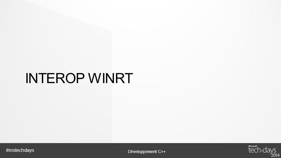 Interop WinRT