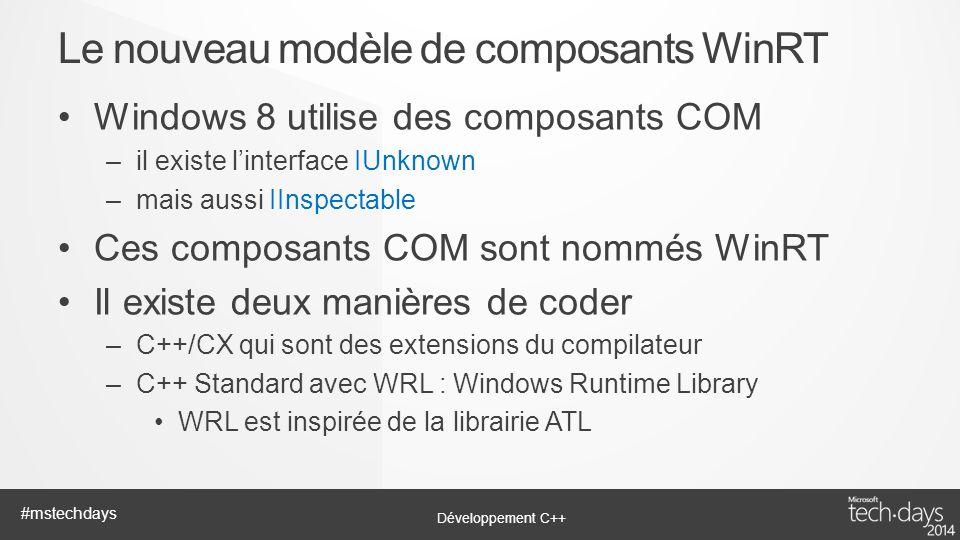 Le nouveau modèle de composants WinRT