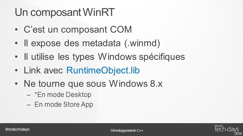 Un composant WinRT C'est un composant COM