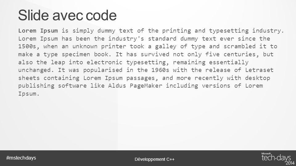 Slide avec code