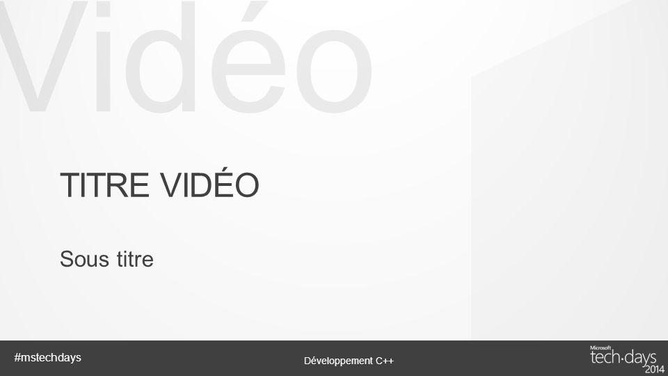Titre vidéo Sous titre