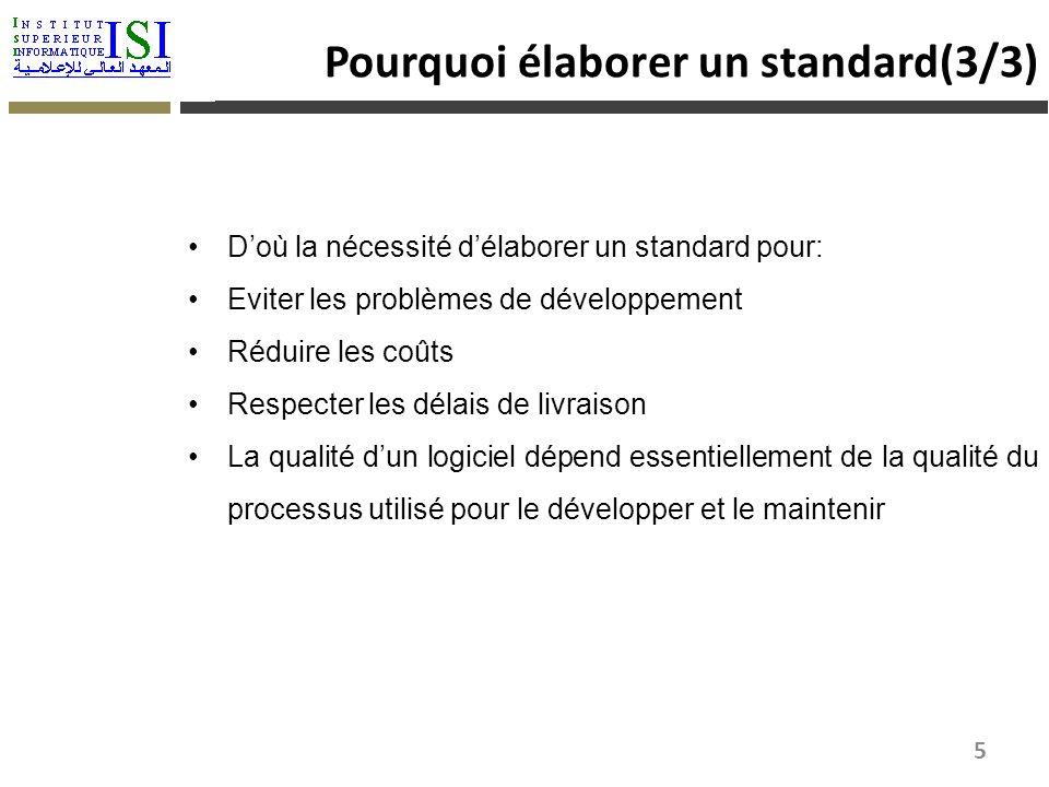 Pourquoi élaborer un standard(3/3)