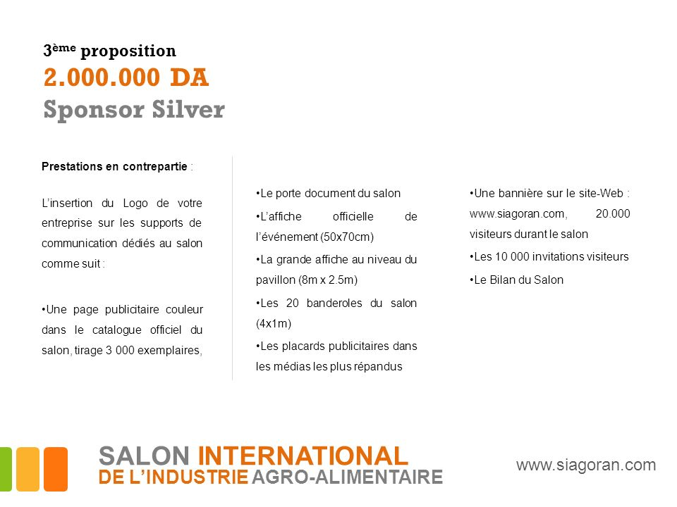 2.000.000 DA Sponsor Silver SALON INTERNATIONAL