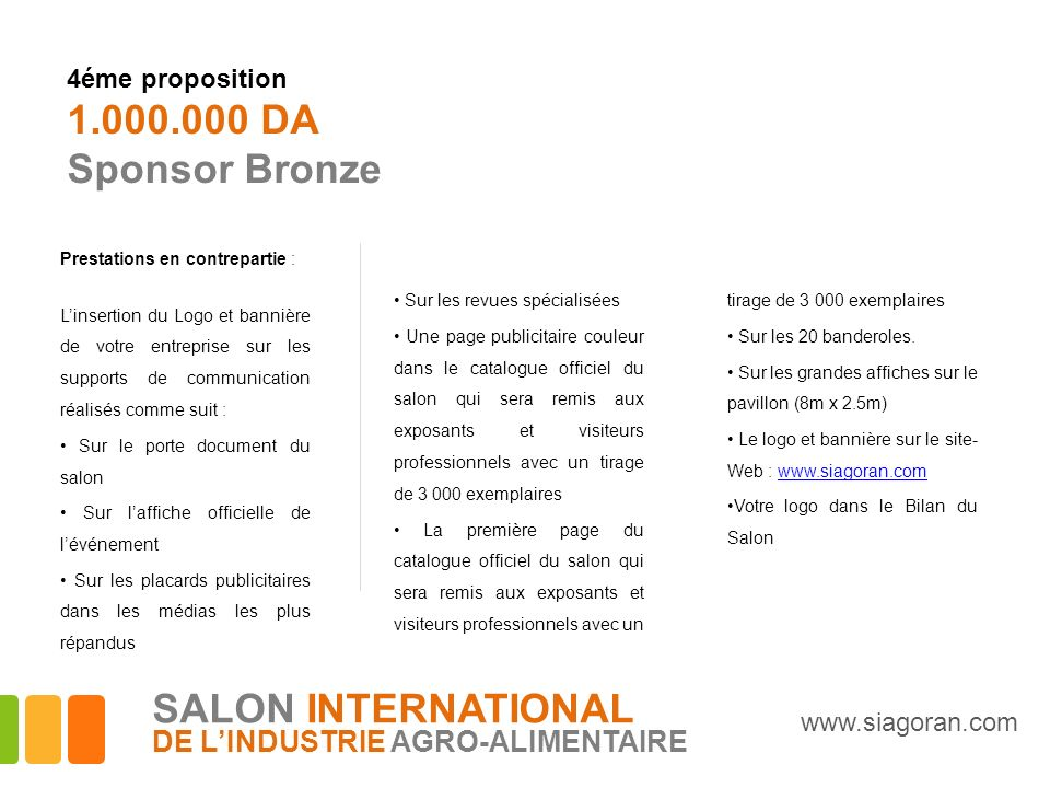 1.000.000 DA Sponsor Bronze SALON INTERNATIONAL