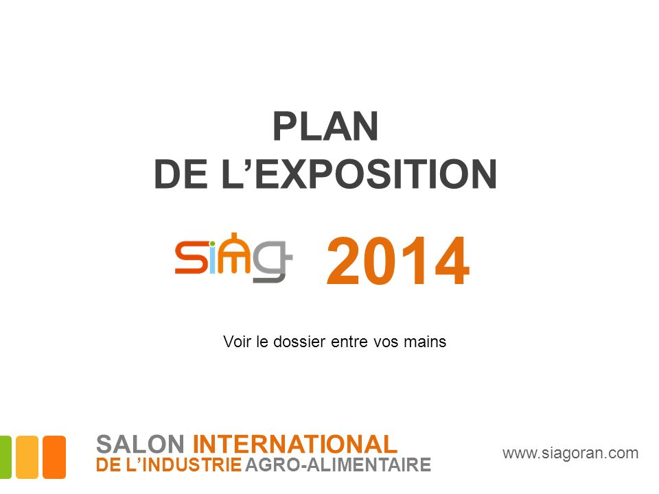 2014 PLAN DE L'EXPOSITION SALON INTERNATIONAL