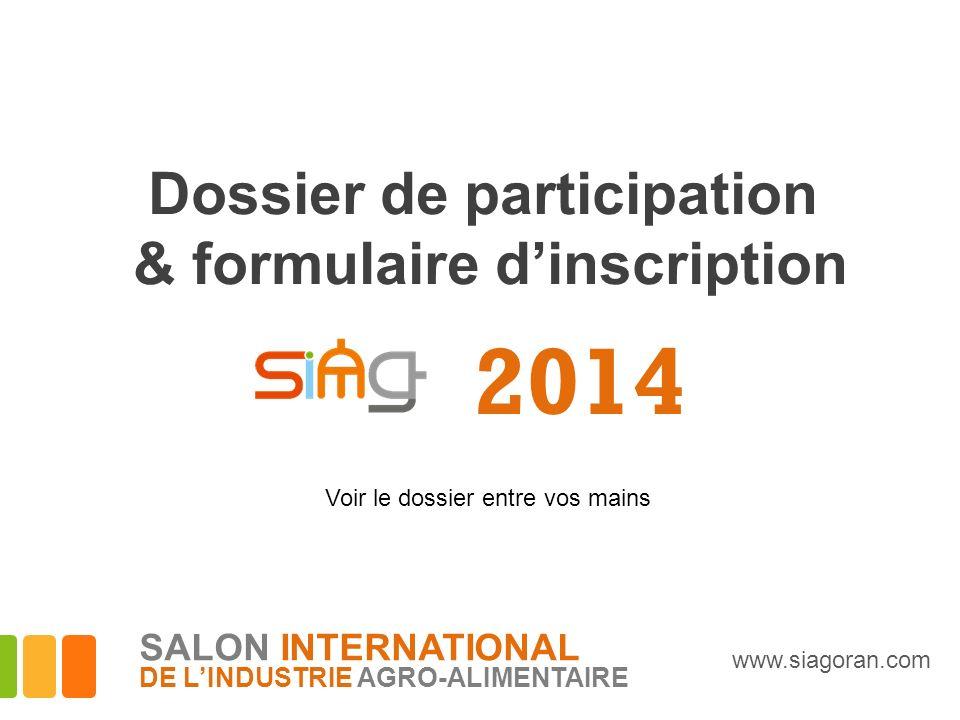 Dossier de participation & formulaire d'inscription