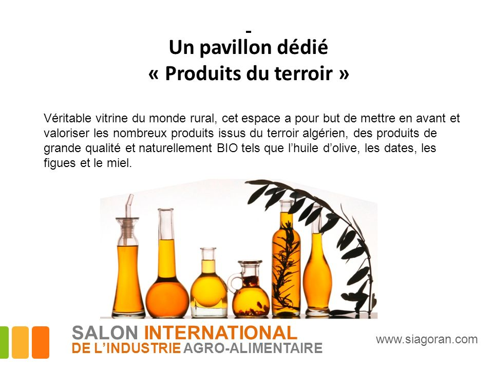 Un pavillon dédié « Produits du terroir » SALON INTERNATIONAL
