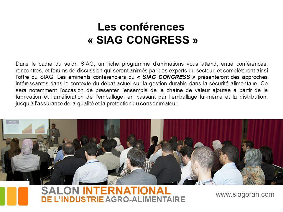Les conférences « SIAG CONGRESS »