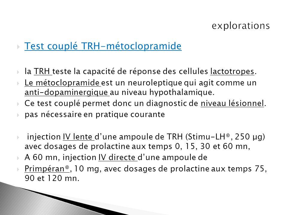 Test couplé TRH-métoclopramide