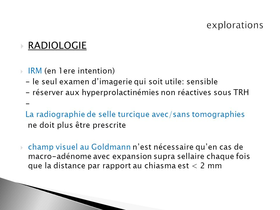 RADIOLOGIE explorations IRM (en 1ere intention)