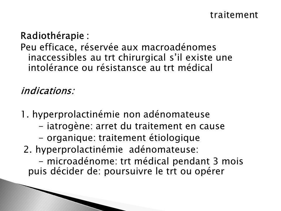 traitement Radiothérapie :